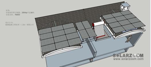 一、SketchUp介绍 草图大师(SketchUp)是一款操作风格明快简易的三维设计软件。该软件的界面非常简洁,很容易上手。 该软件在光伏系统设计中主要用以两块: 1、绘制光伏系统布置效果图; 2、阴影分析,测量光伏组件阵列的排间距。 二、SketchUp绘制光伏系统布置效果图 SketchUp的操作界面如下图所示。中间空白处为绘图区。绘制完成后可以导出任意视角的图片。在此对SketchUp的绘图过程不再叙述,有兴趣的可以在网上免费下载软件和学习资料。 SketchUp绘制光伏发电系统布置效果图好处在于