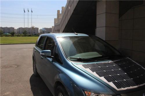 辽宁首台太阳能电动汽车的应用